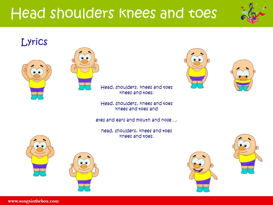 Head shoulders knees and toes