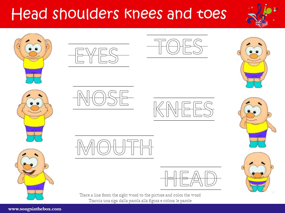 head shoulders knees and toes pictures to pin on pinterest heads shoulders knees and toes chords heads shoulders knees and toes in german