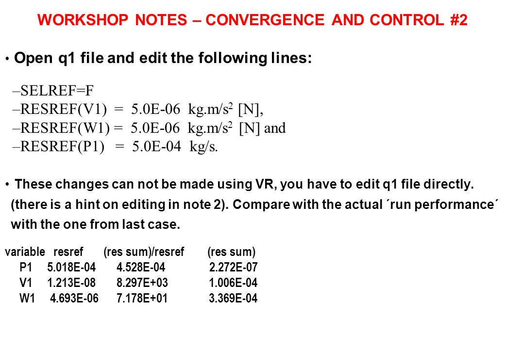 WORKSHOP NOTES – CONVERGENCE AND CONTROL #2