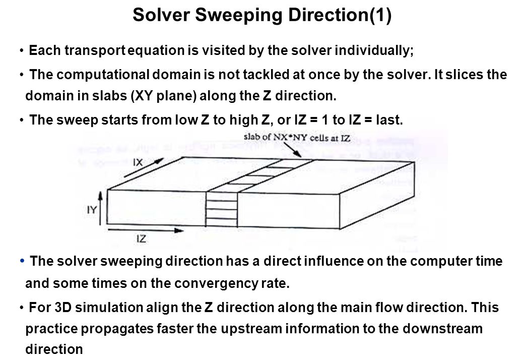Solver Sweeping Direction(1)