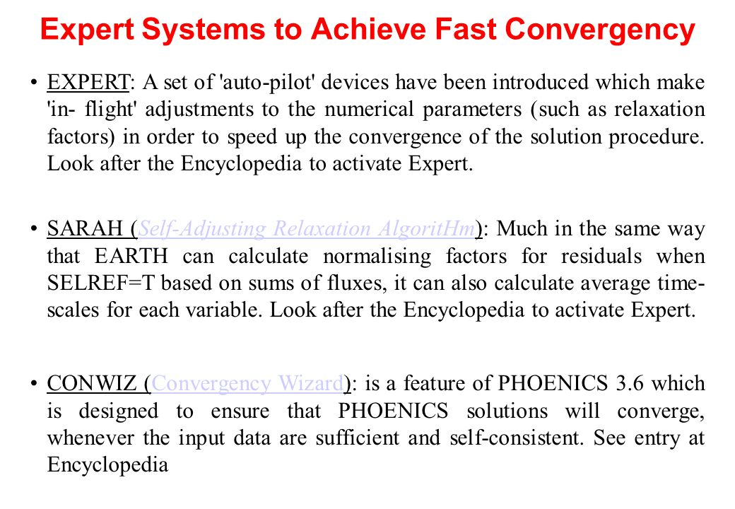 Expert Systems to Achieve Fast Convergency