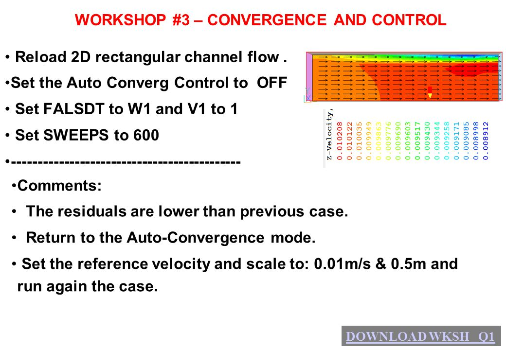 WORKSHOP #3 – CONVERGENCE AND CONTROL