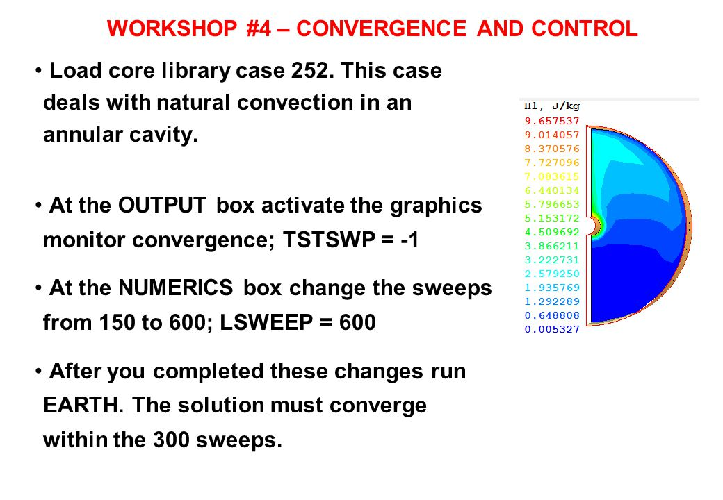 WORKSHOP #4 – CONVERGENCE AND CONTROL