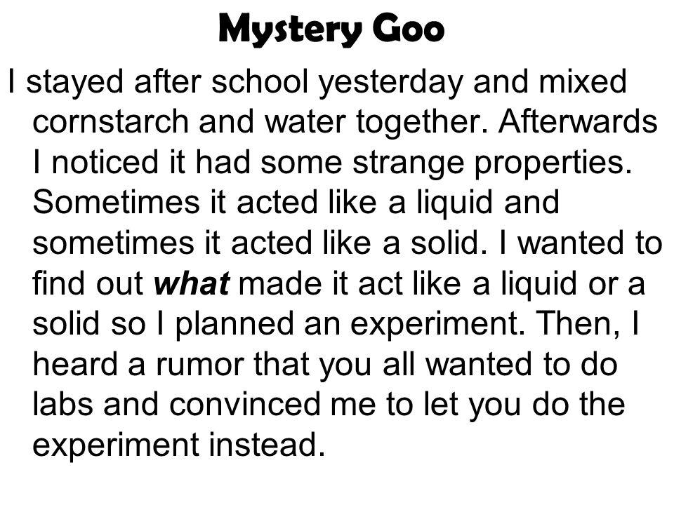 Mystery Goo