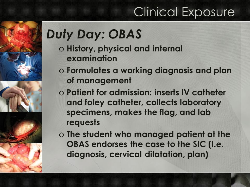 Clinical Exposure Duty Day: OBAS