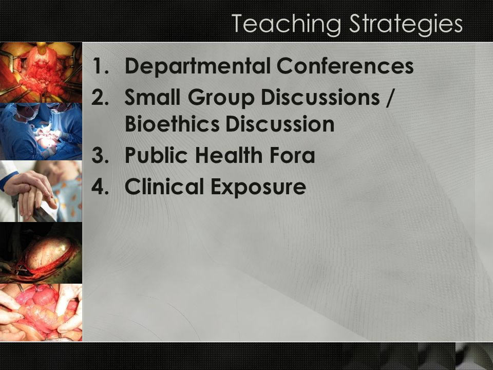 Teaching Strategies Departmental Conferences