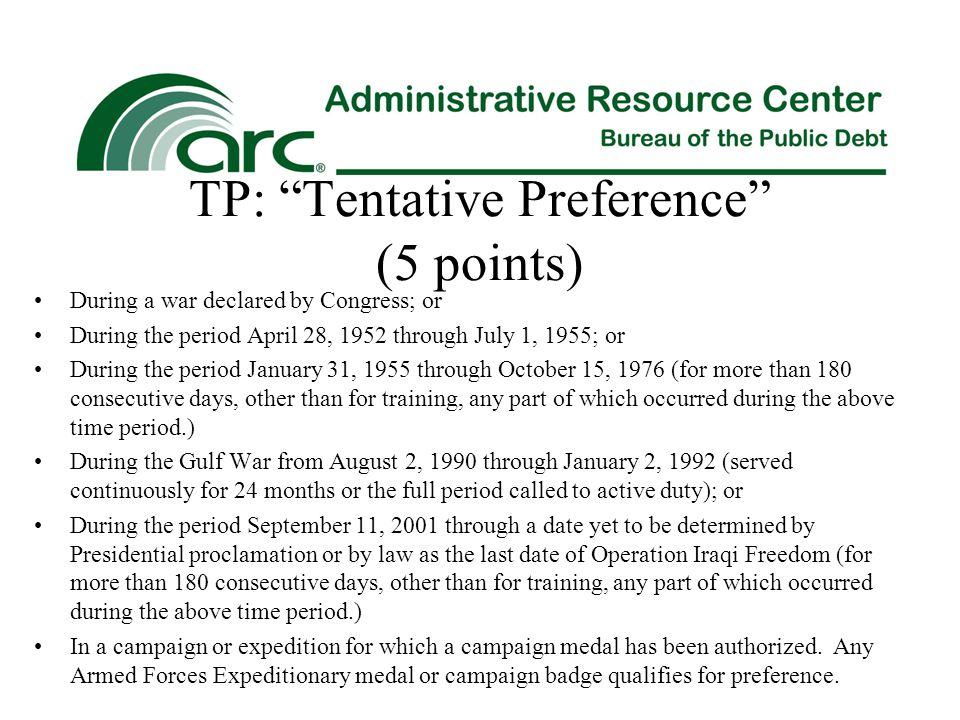 TP: Tentative Preference (5 points)