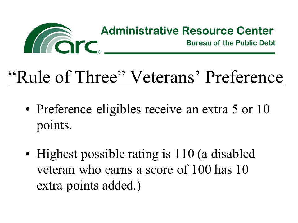 Rule of Three Veterans' Preference