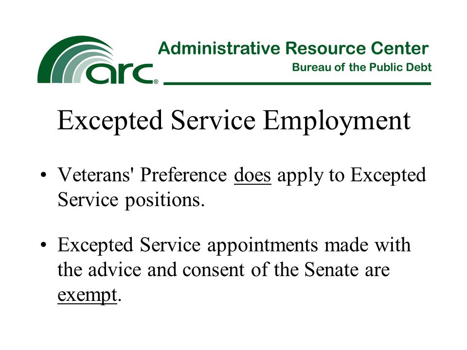 Excepted Service Employment