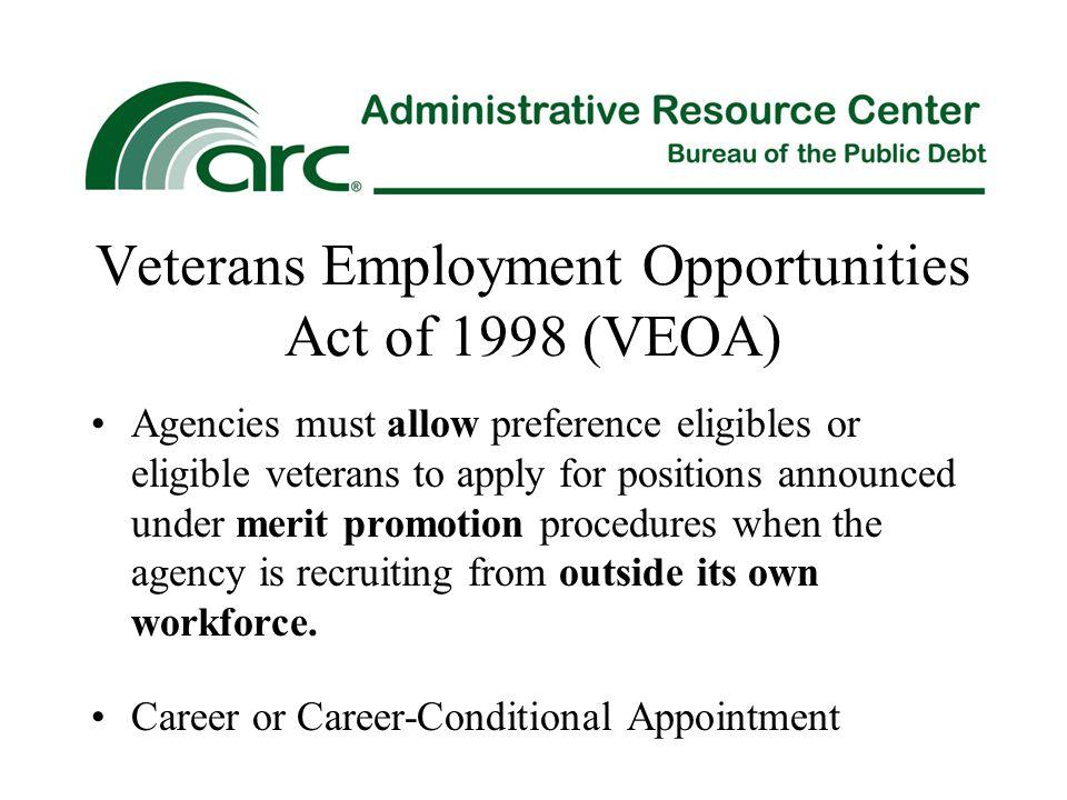 Veterans Employment Opportunities Act of 1998 (VEOA)