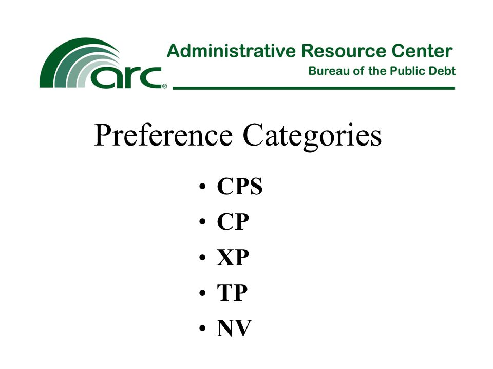 Preference Categories