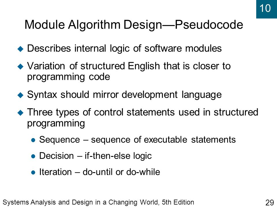 how to write modules in pseudocode