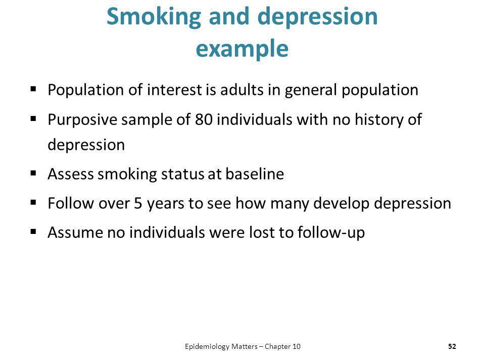 Smoking and depression example