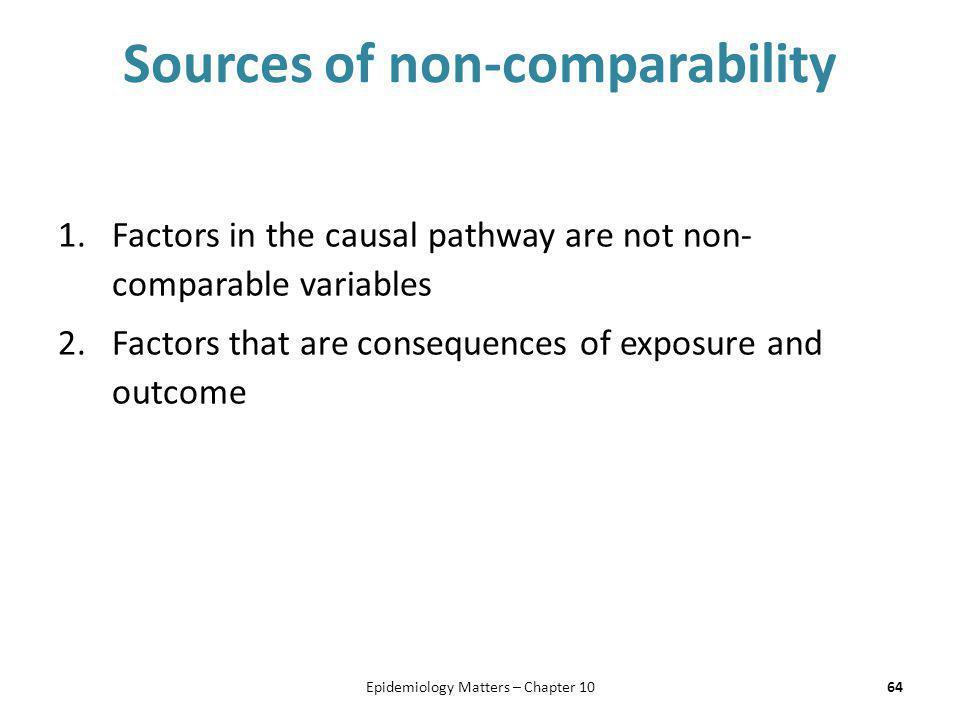 Sources of non-comparability