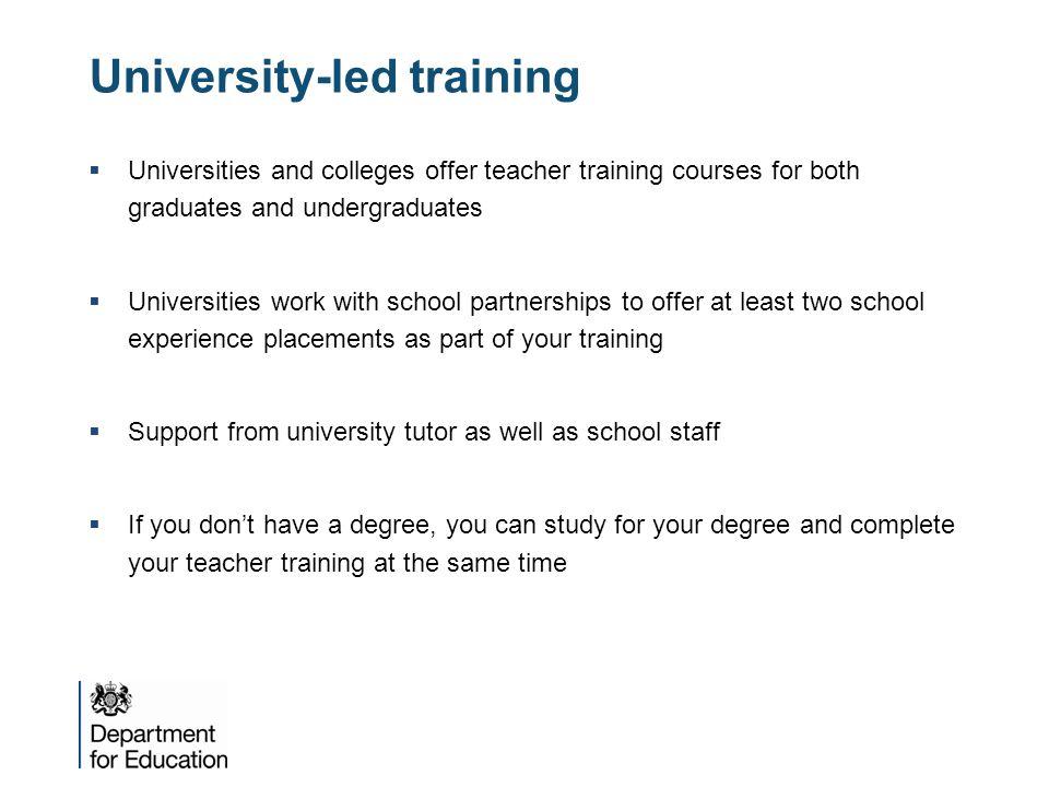 University-led training