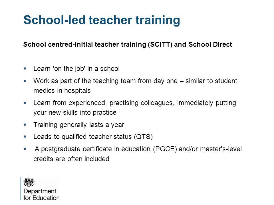School-led teacher training