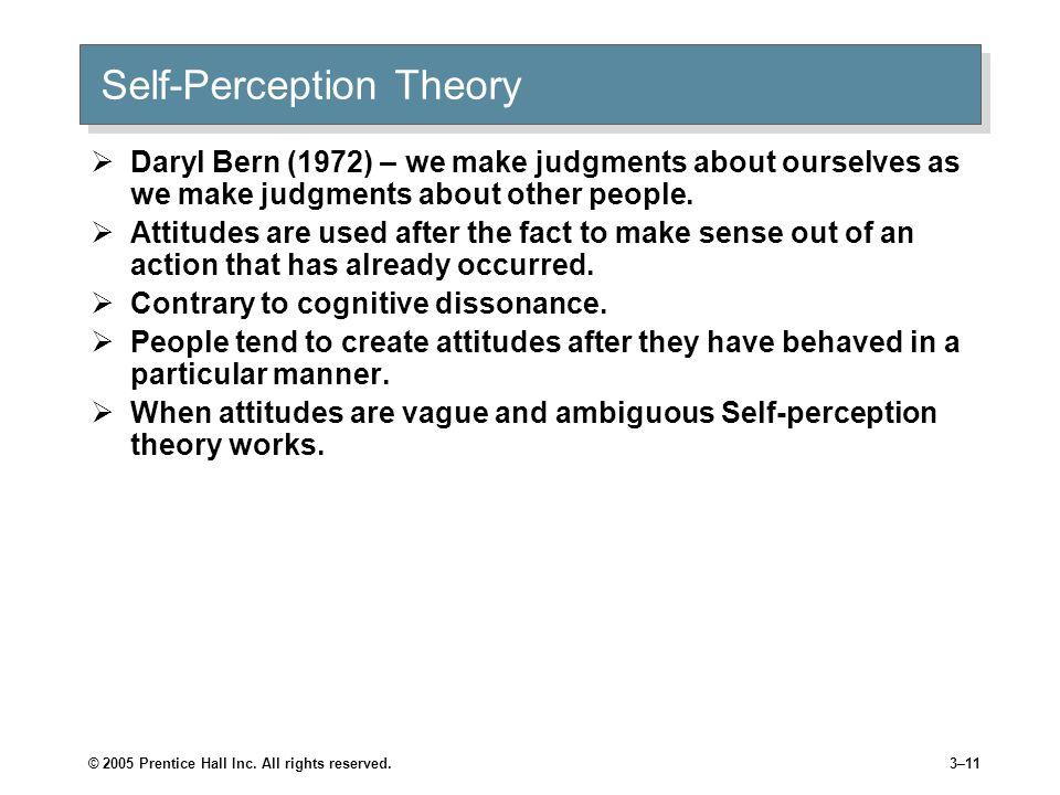 Self-Perception Theory