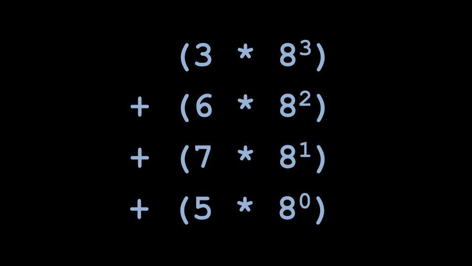(3 * 83) + (6 * 82) + (7 * 81) + (5 * 80)