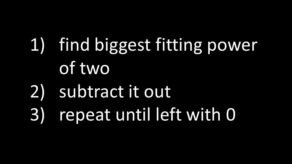 find biggest fitting power of two