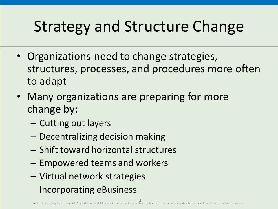Strategy and Structure Change