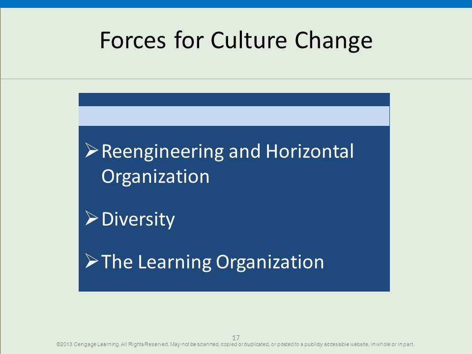Forces for Culture Change