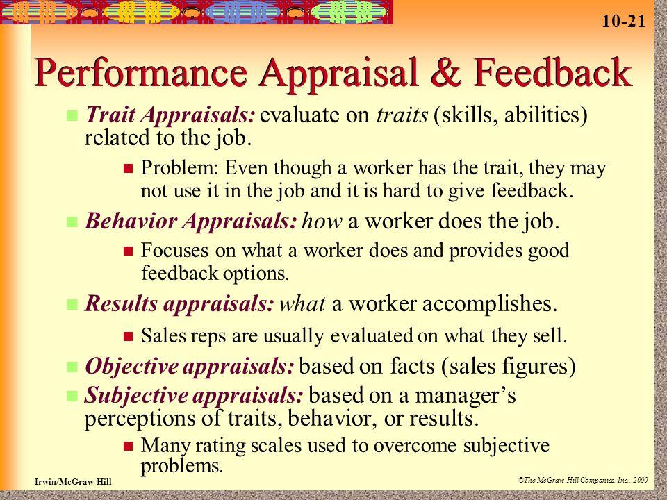 Performance Appraisal & Feedback