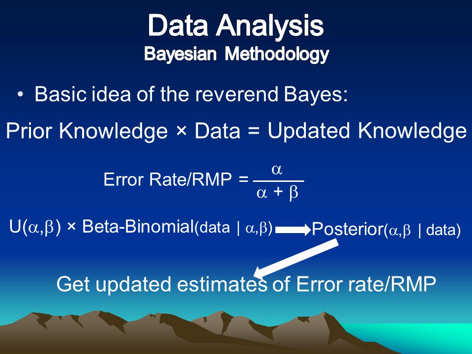 Data Analysis Bayesian Methodology