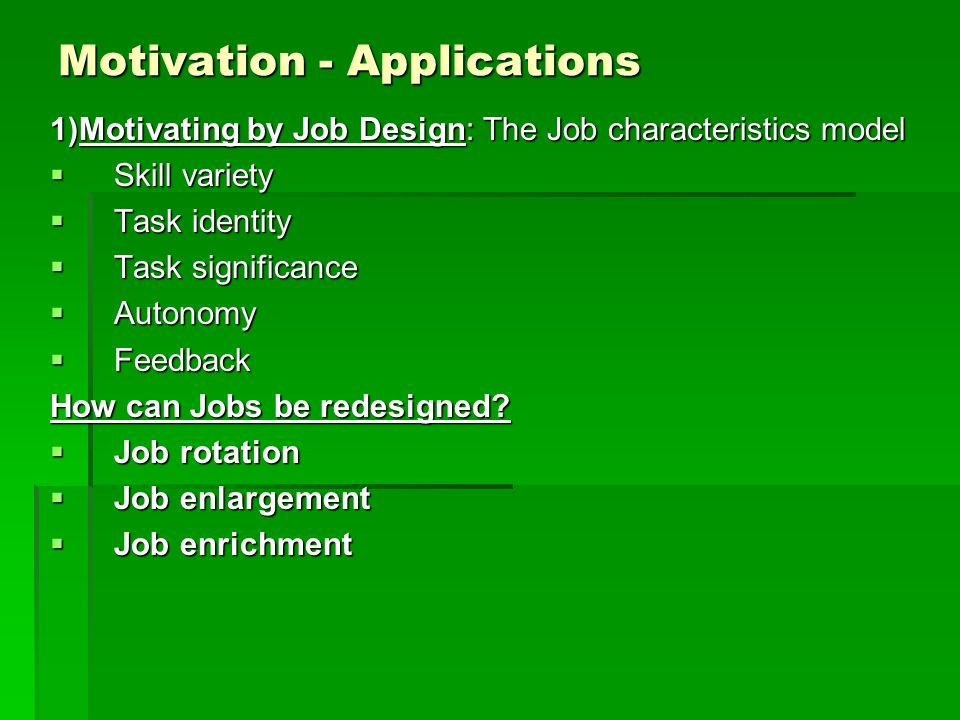 Motivation - Applications