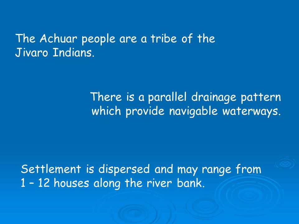 The Achuar people are a tribe of the