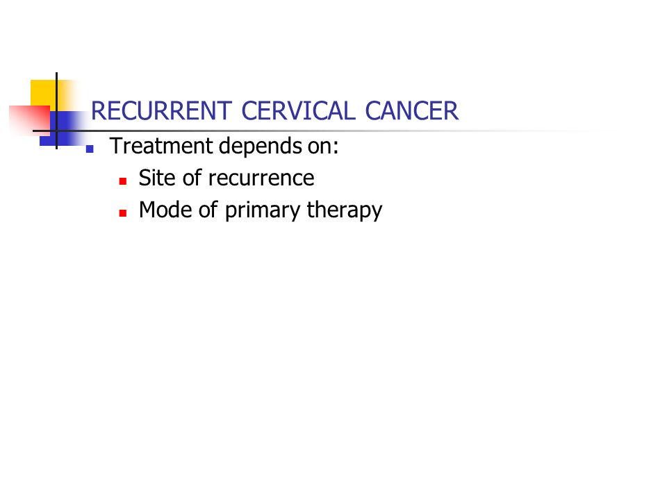 RECURRENT CERVICAL CANCER