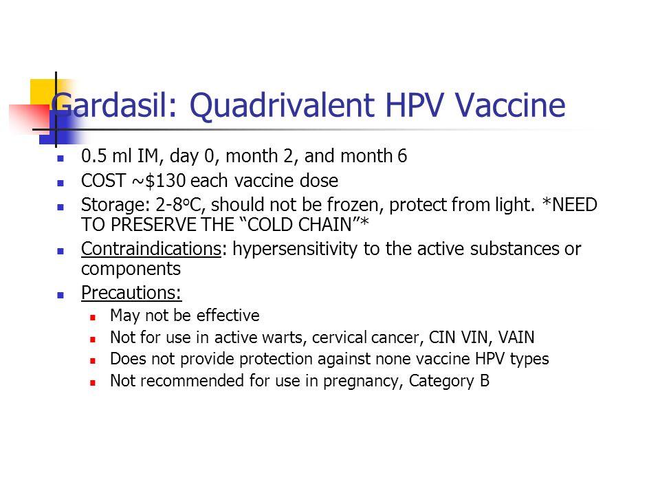 Gardasil: Quadrivalent HPV Vaccine