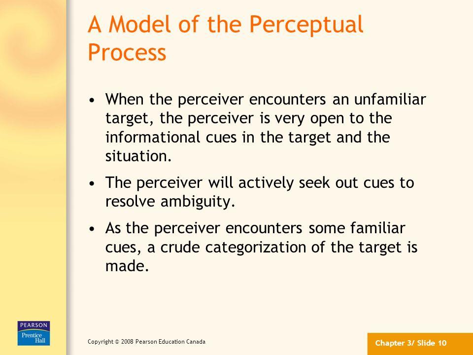A Model of the Perceptual Process