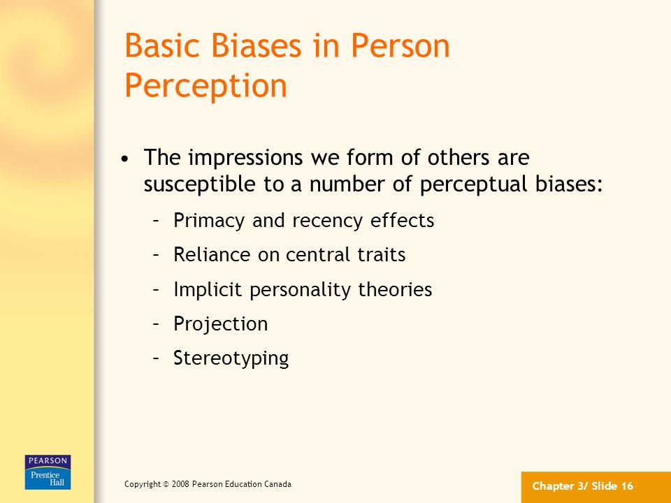 Basic Biases in Person Perception