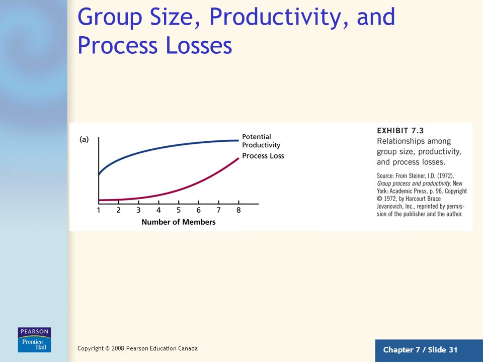Group Size, Productivity, and Process Losses