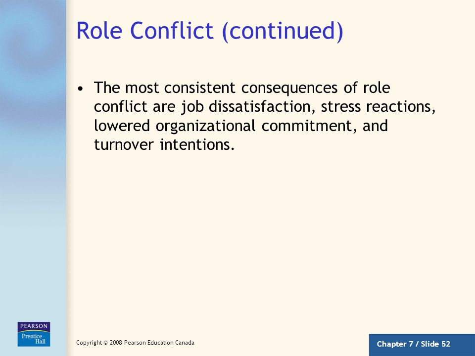 Role Conflict (continued)