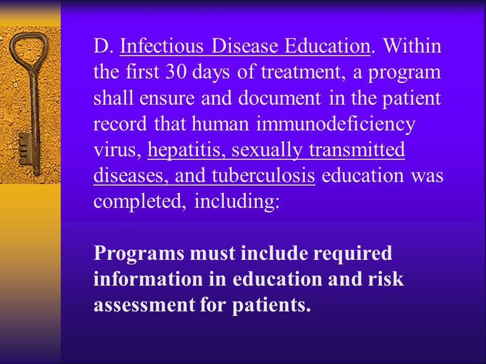 D. Infectious Disease Education
