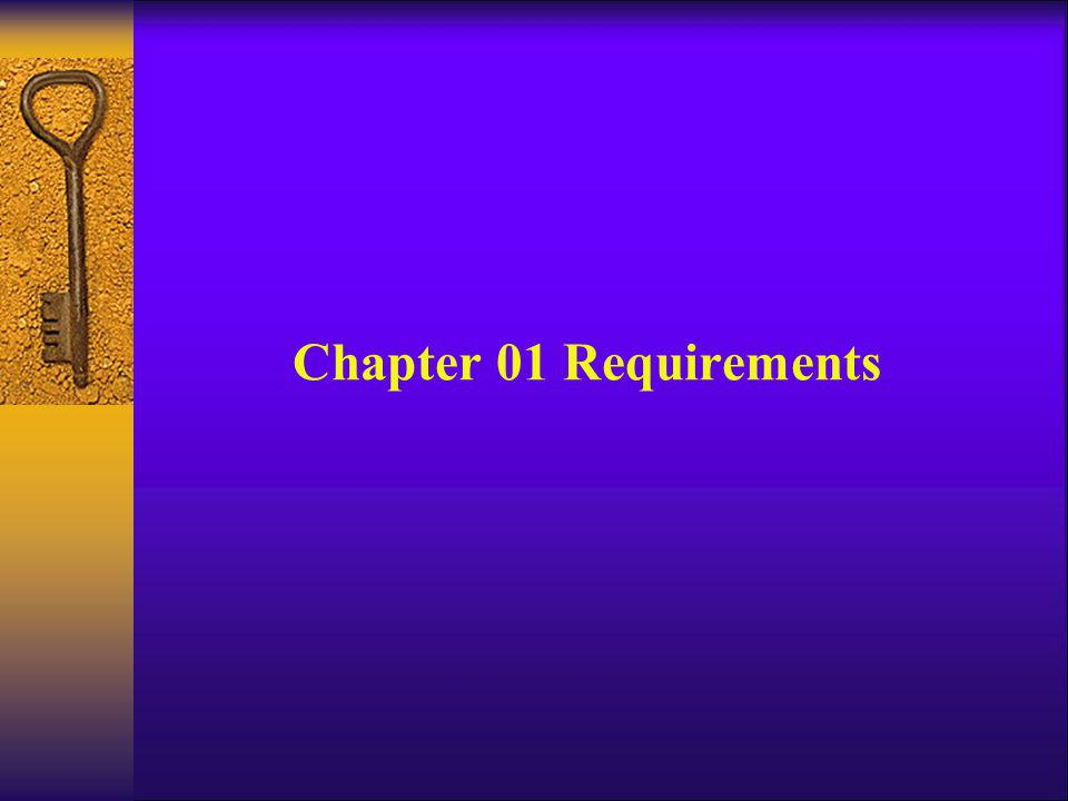 Chapter 01 Requirements