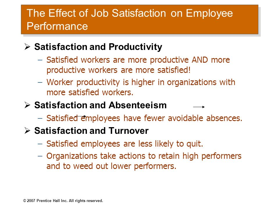 The Effect of Job Satisfaction on Employee Performance