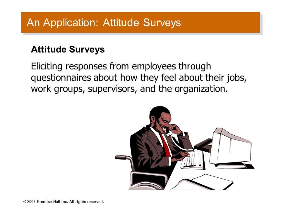 An Application: Attitude Surveys