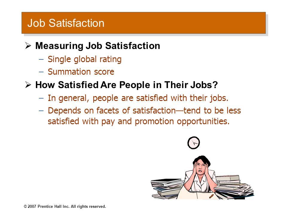 Job Satisfaction Measuring Job Satisfaction