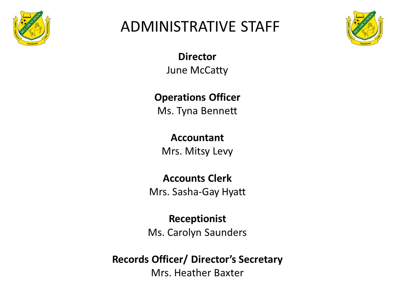 Records Officer/ Director's Secretary