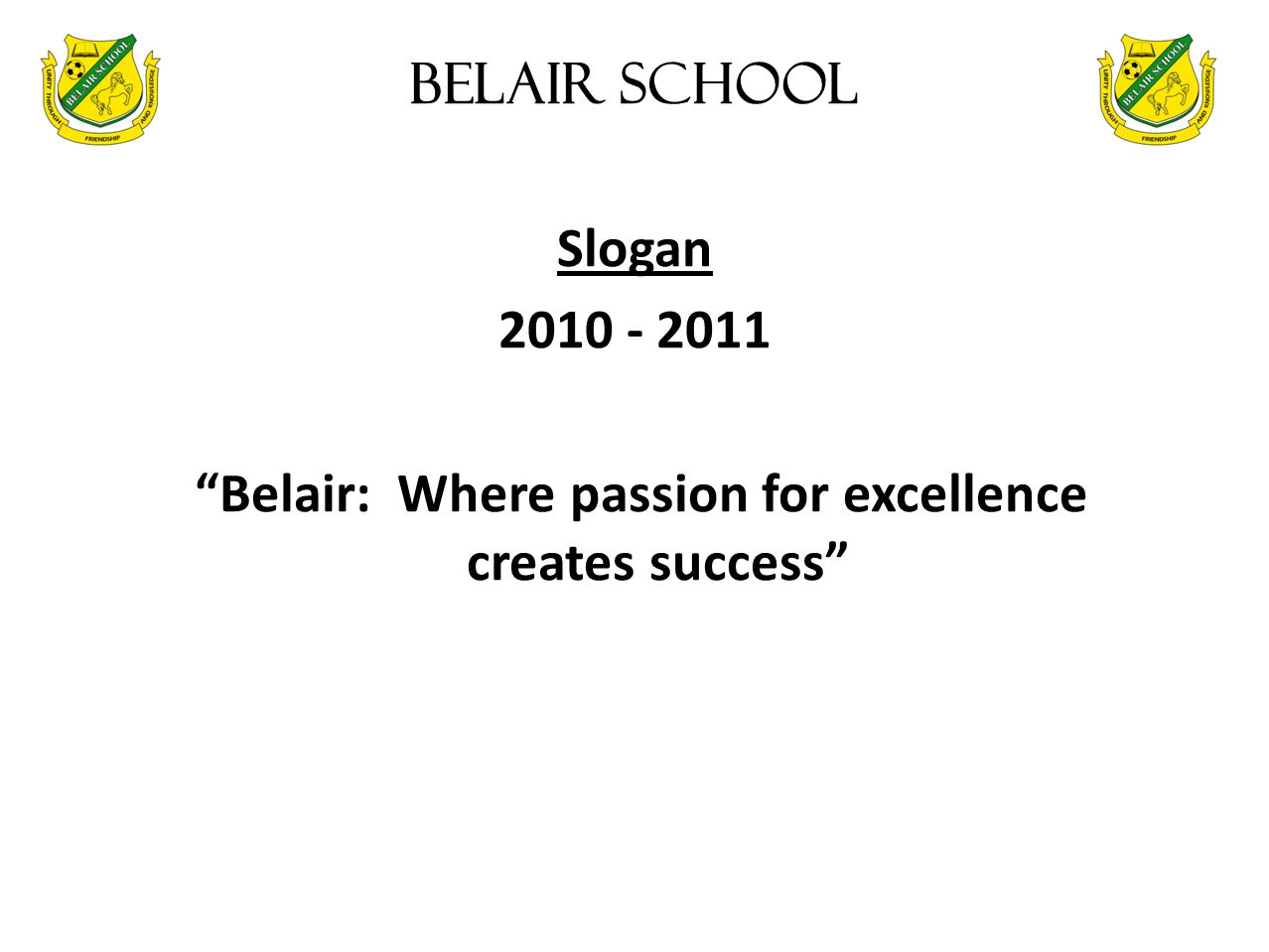 Belair: Where passion for excellence creates success