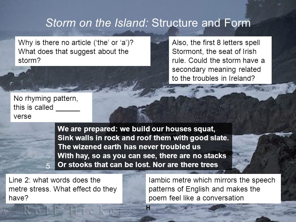 Storm on the Island: Structure and Form