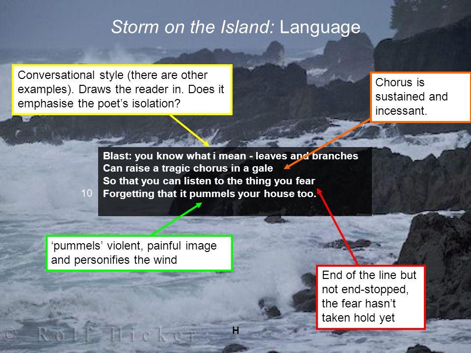 Storm on the Island: Language