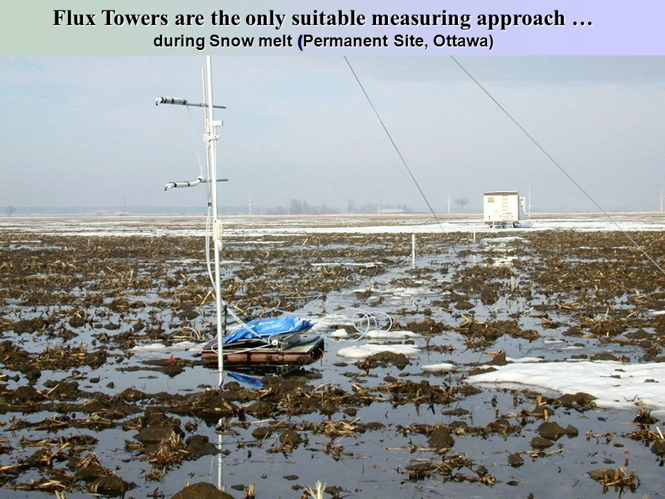 Flux Towers are the only suitable measuring approach …