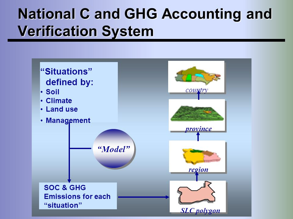 National C and GHG Accounting and Verification System