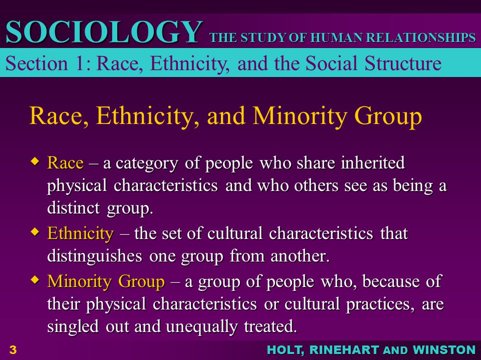 Race, Ethnicity, and Minority Group