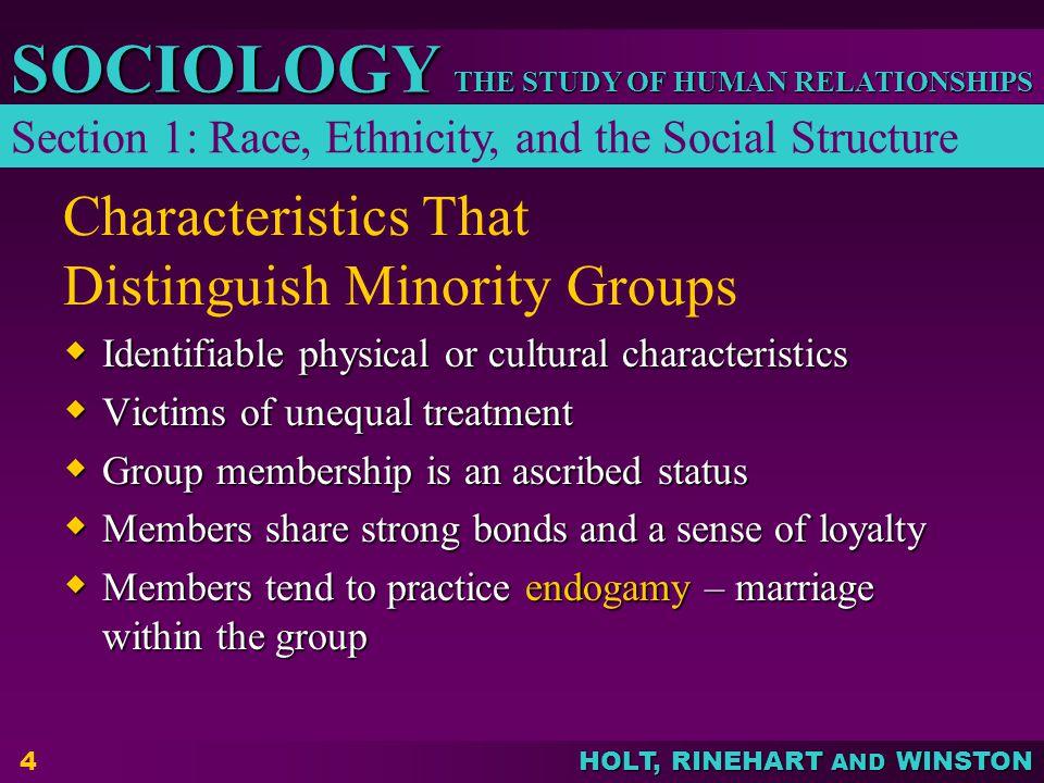 Characteristics That Distinguish Minority Groups