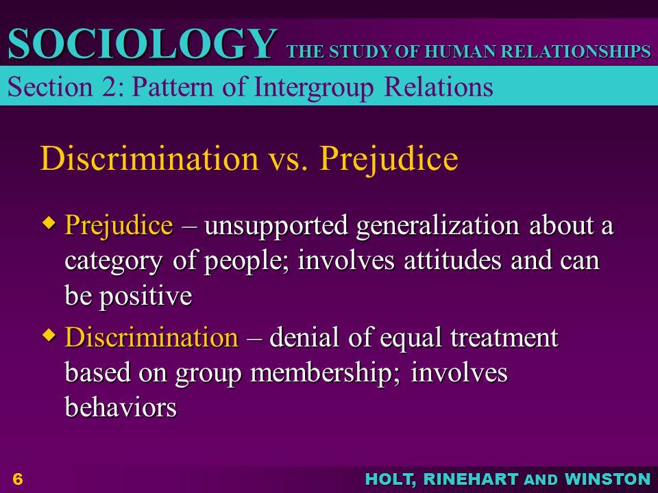 Discrimination vs. Prejudice