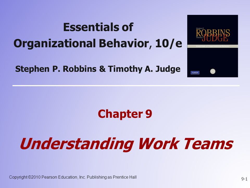 Chapter 9 Understanding Work Teams
